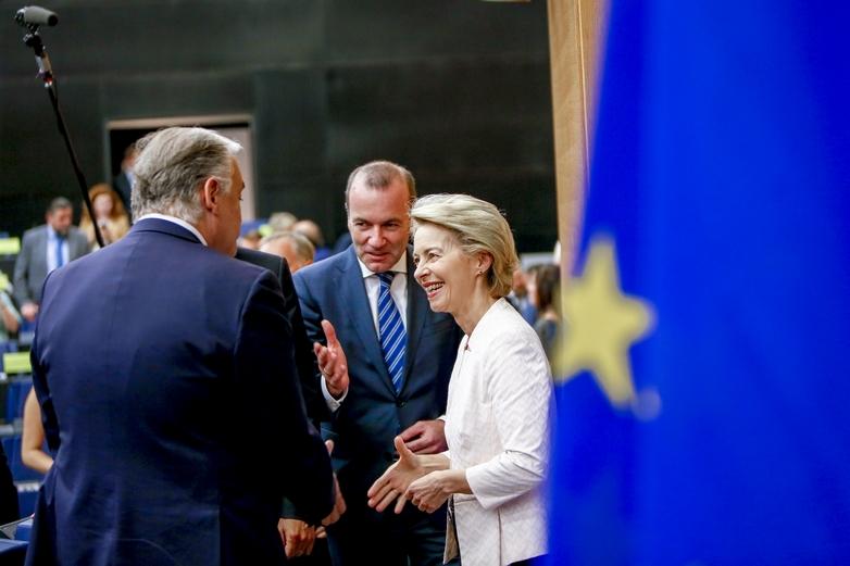 Ursula von der Leyen lors de sa rencontre avec le PPE - Crédits : Mathieu Cugnot / Parlement européen