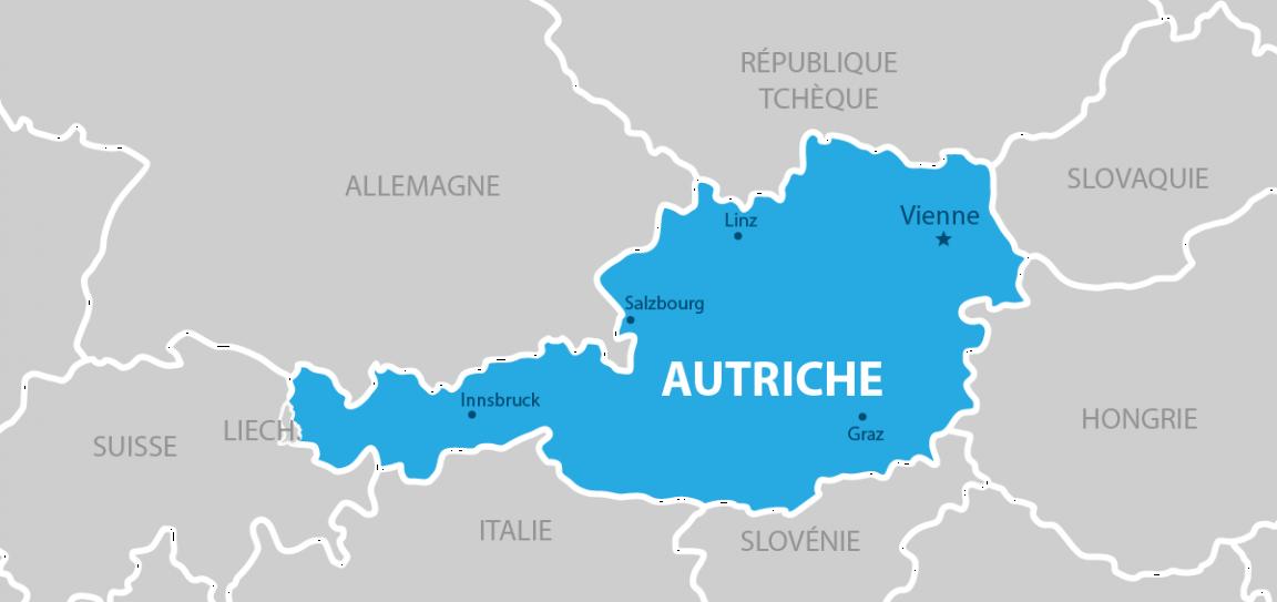 Autriche Carte géographique