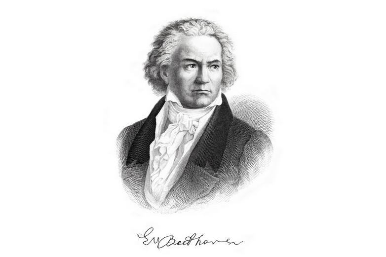 Gravure de Ludwig von Beethoven en 1882