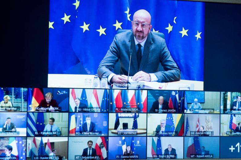 Les vingt-sept chefs d'Etat et de gouvernement se sont retrouvés par visioconférence pour aborder des sujets déterminants pour leur avenir commun
