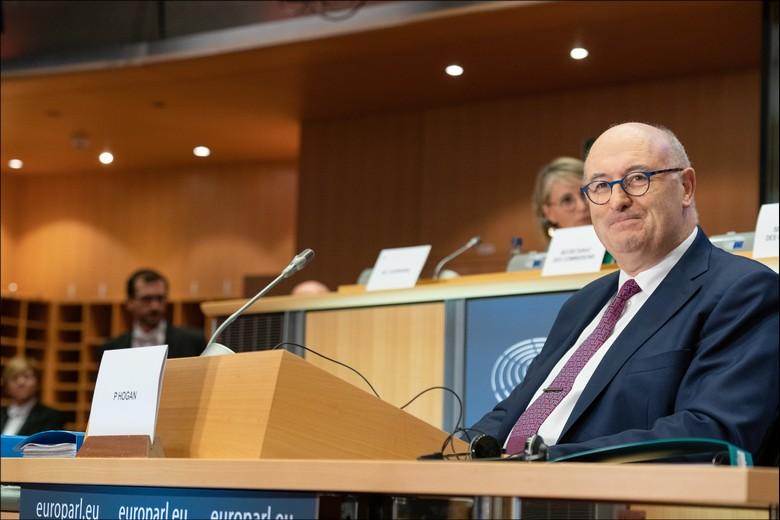 L'Irlandais Phil Hogan, commissaire européen en charge du Commerce, a présenté sa démission mercredi soir. Ici, lors de son audition au Parlement européen en octobre 2019, avant son investiture