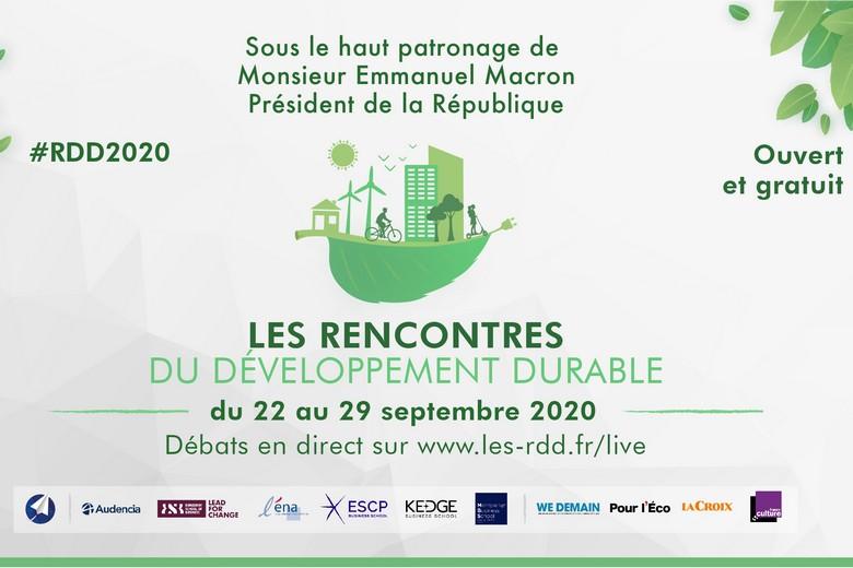 Les Rencontres du Développement Durable sont organisées par Open Diplomacy du 22 au 29 septembre pour débattre de la transition écologique et sociale