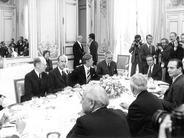Valéry Giscard d'Estaing lors du sommet de Paris en 1974