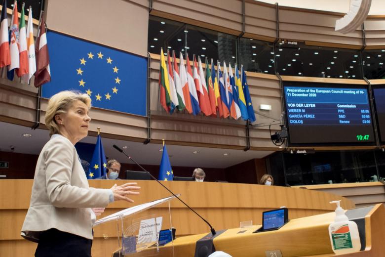 Invitée au Parlement européen, mercredi 25 novembre, la présidente de la Commission européenne n'a pas caché ses inquiétudes quant à la conclusion d'un accord avec le Royaume-Uni