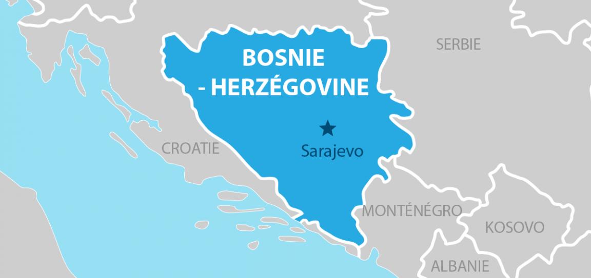 Bosnie-Herzegovine Carte géographique