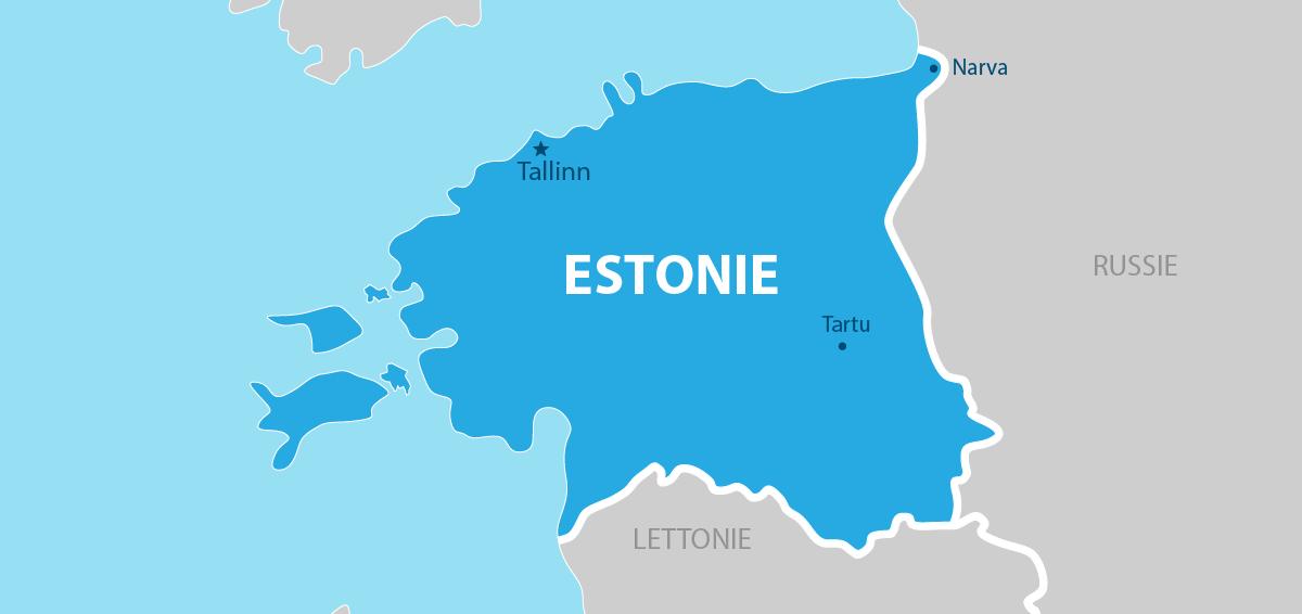 Estonie Carte géographique
