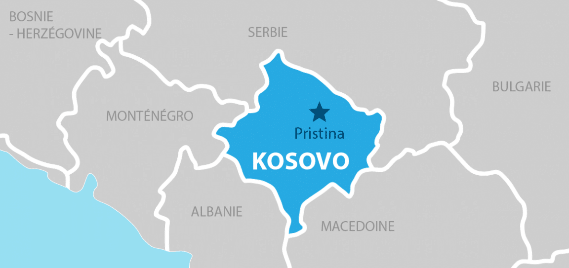 Kosovo Carte géographique
