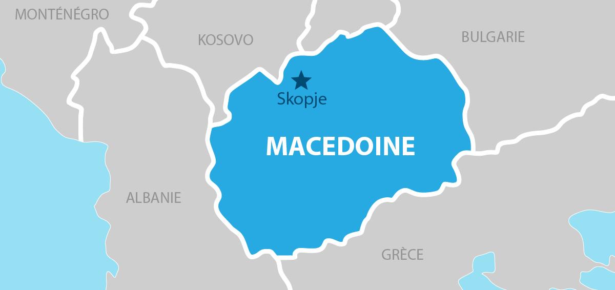 Macedoine Carte géographique