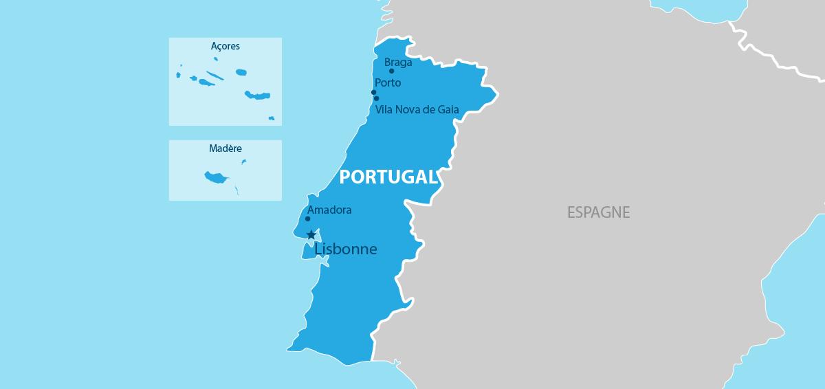 Portugal Carte géographique