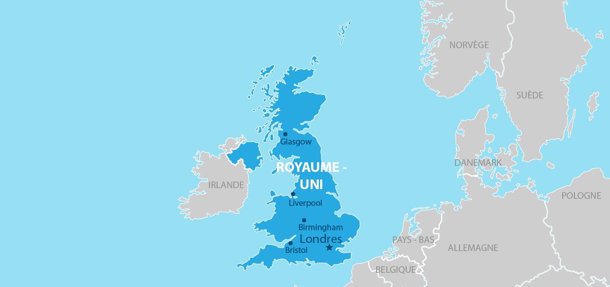 Royaume-Uni carte géographique