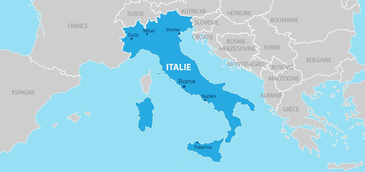 Italie Carte géographique