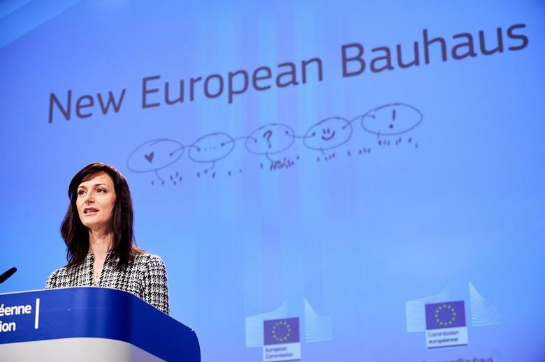 La commissaire  à l'Innovation, la Recherche, la Culture, l'Education et la Jeunesse Mariya Gabriel a présenté ce lundi la première phase du nouveau Bauhaus européen
