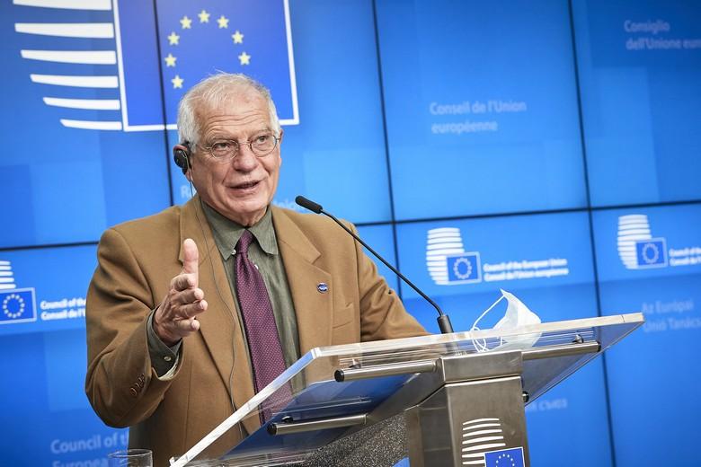 Le chef de la diplomatie européenne Josep Borrell a présenté, le 7 décembre 2020, le nouveau régime de sanction européen adopté par les ministres des Affaires étrangères de l'Union européenne