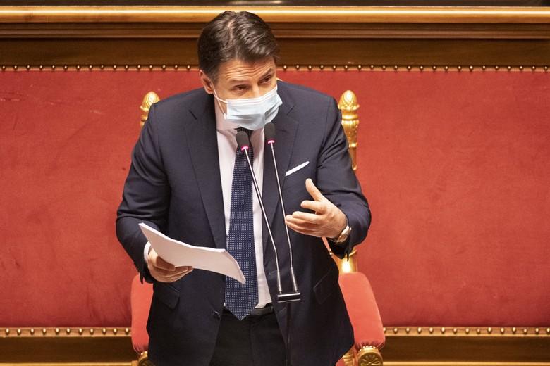 Hier devant les sénateurs, le président du Conseil italien Giuseppe Conte a lancé un