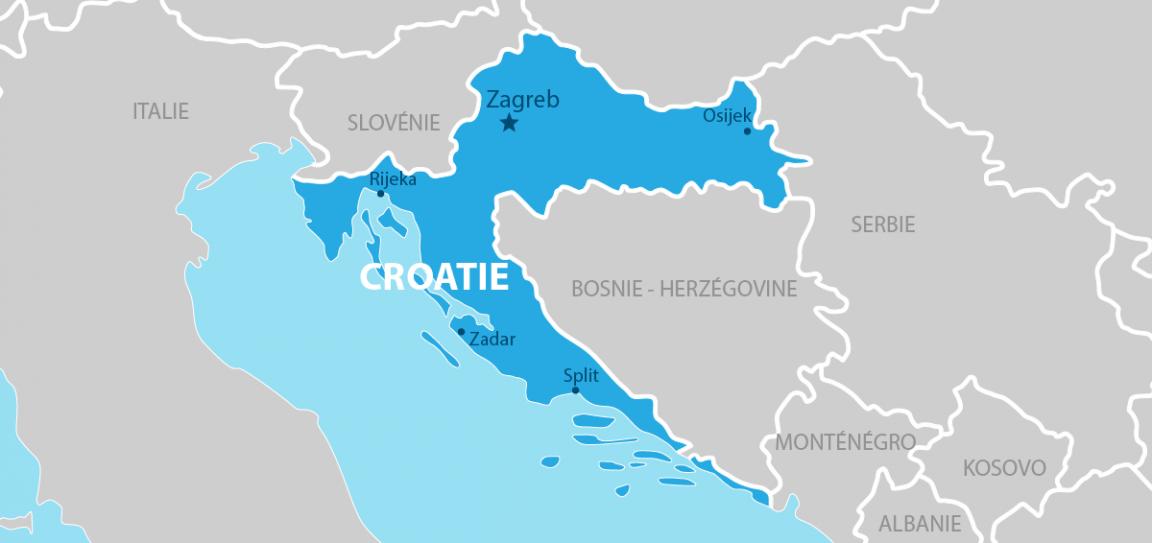 Croatie carte géographique
