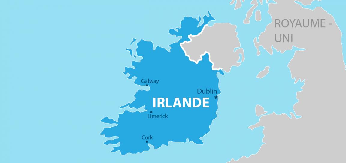 Irlande carte géographique