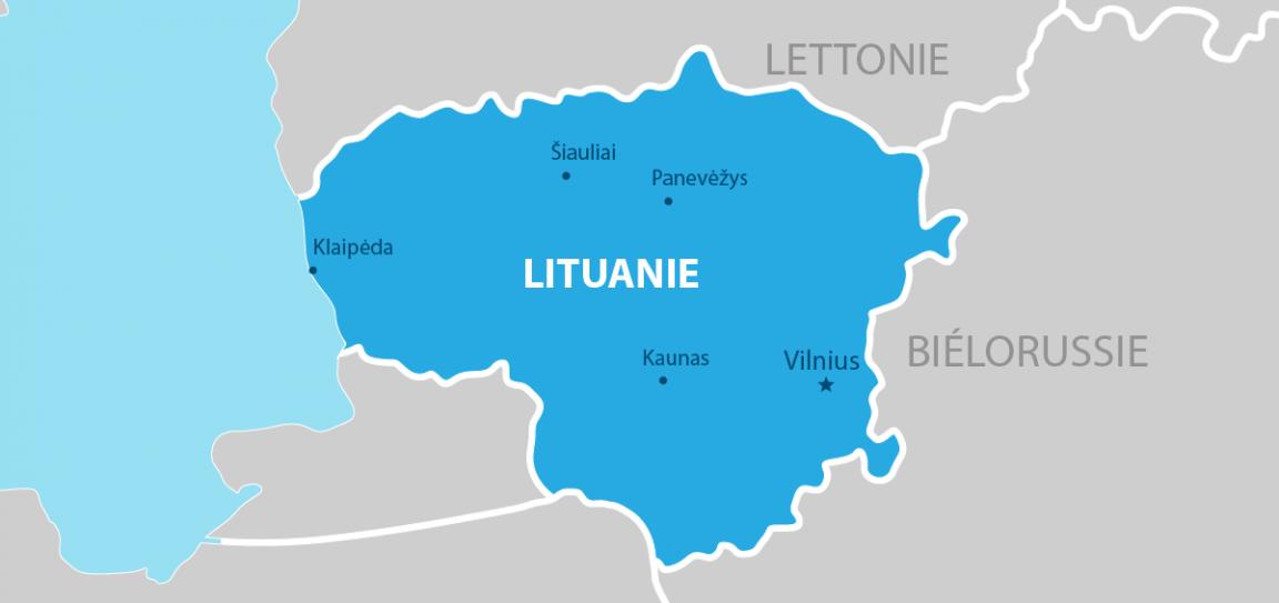 Lituanie carte géographique