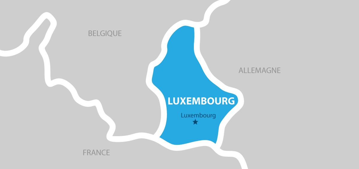 Luxembourg carte géographique