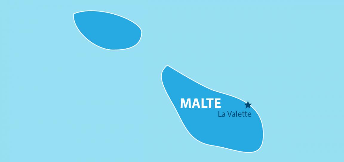 Malte carte géographique