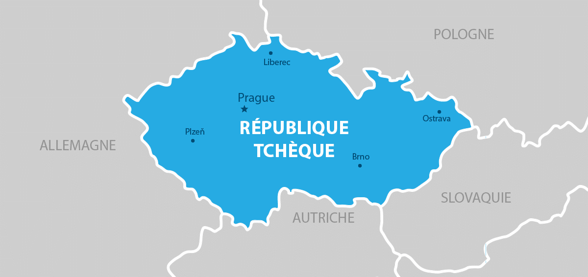 Republique tchèque carte géographique