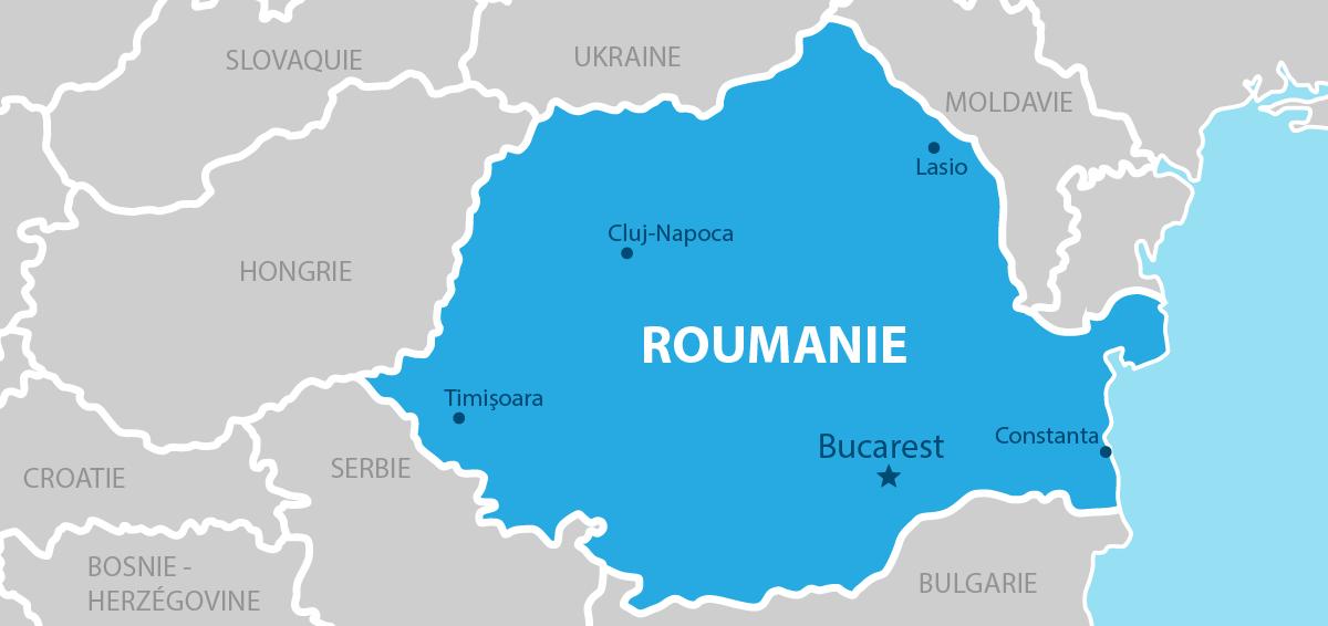 Roumanie carte géographique