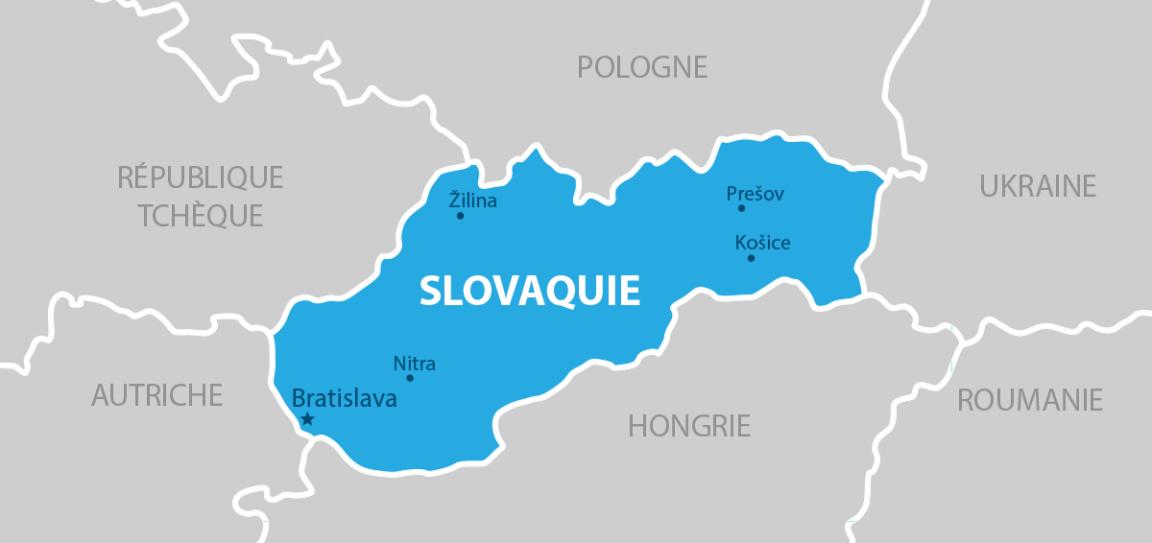 Slovaquie carte géographique