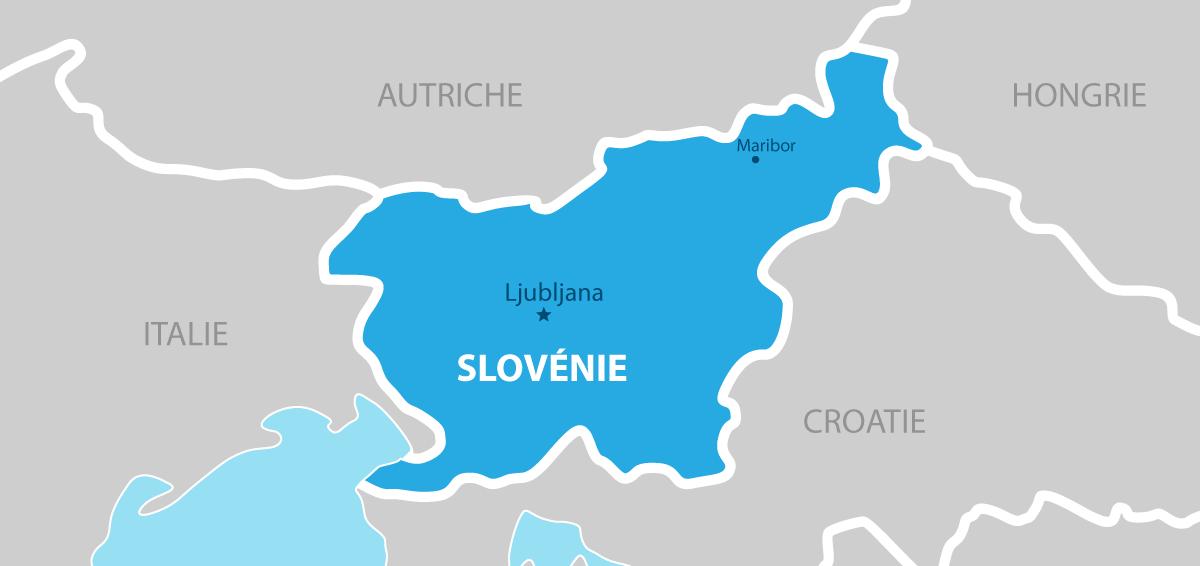 Slovénie carte géographique