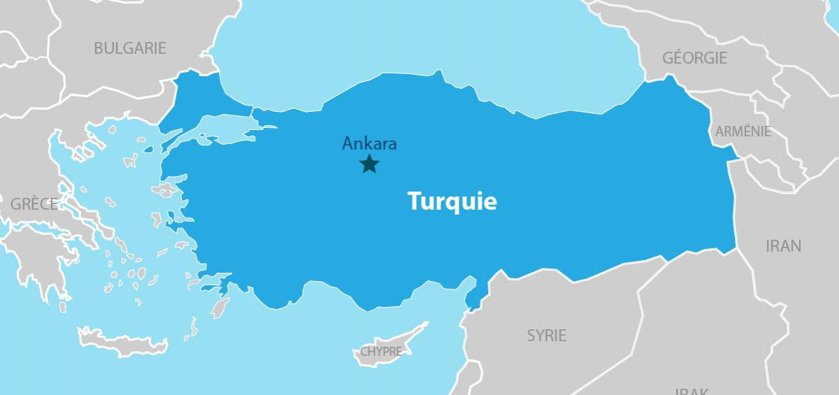 Turquie Carte géographique