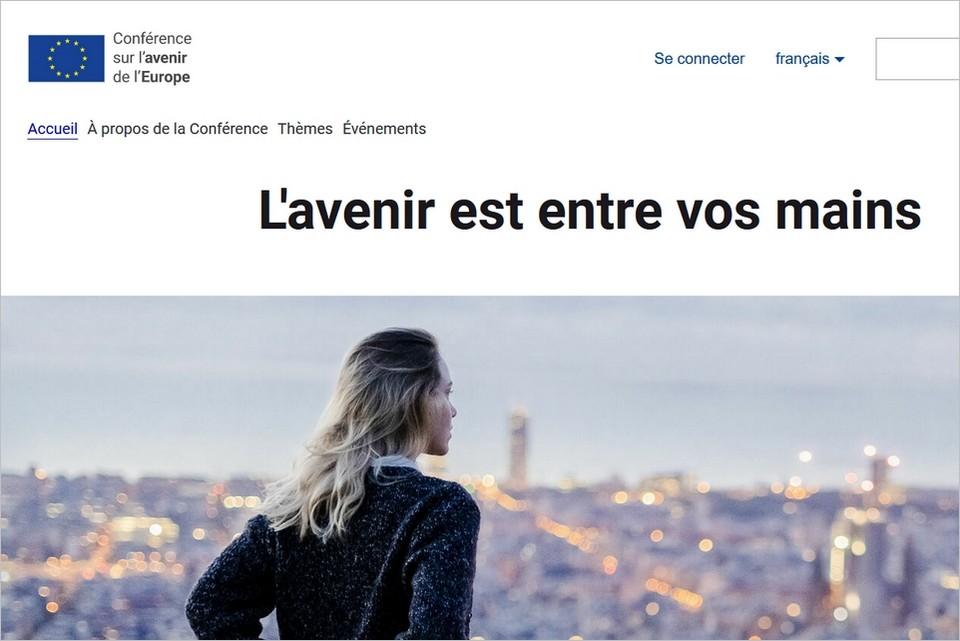Capture d'écran du site futureu.europa.eu