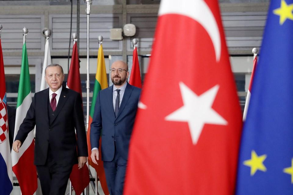 Le président du Conseil européen Charles Michel avait reçu Recep Tayyip Erdoğan à Bruxelles en mars dernier