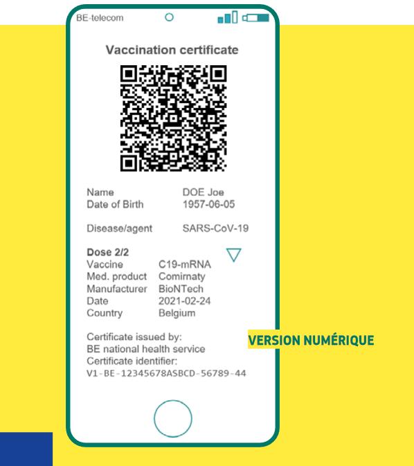 Voici ce à quoi pourrait ressembler le certificat vert numérique sur smartphone - Crédits : Commission européenne