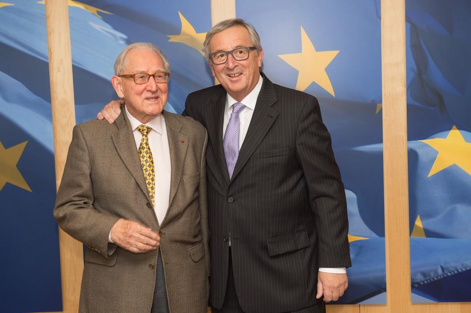 Paul Collowald en compagnie du président de la Commission européenne Jean-Claude Juncker en 2015