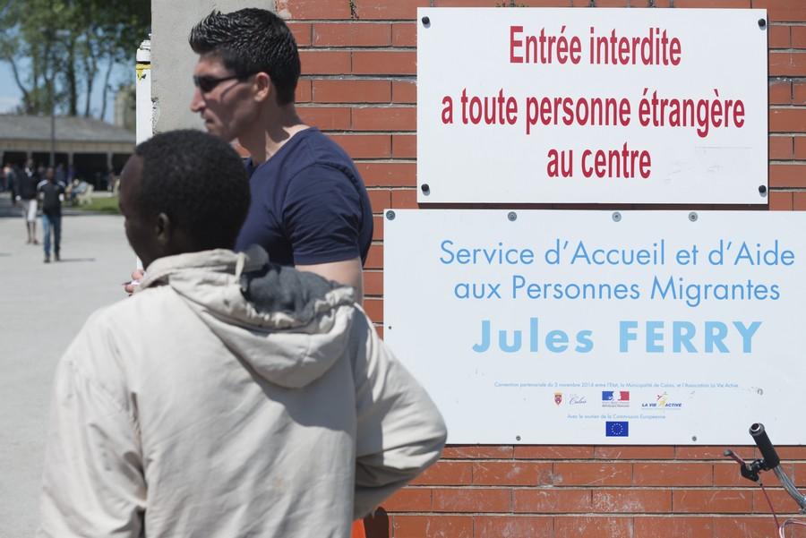 Un centre d'accueil de jour à Calais - Crédits : Union européenne