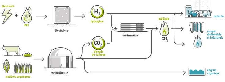 Schéma du fonctionnement de MéthyCentre