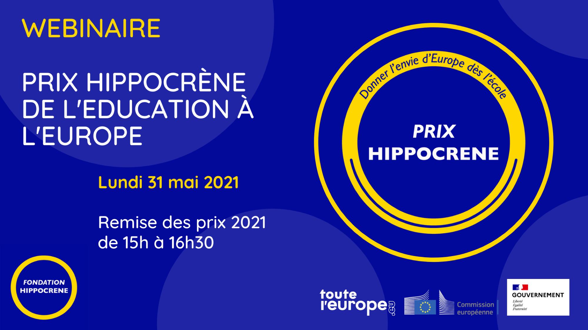 Webinaire : Remise du Prix Hippocrène de l'éducation à l'Europe 2021