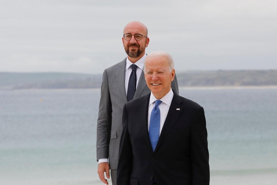 Le président du Conseil européen Charles Michel et le chef d'Etat américain Joe Biden étaient tous les deux présents au sommet du G7 ce week-end