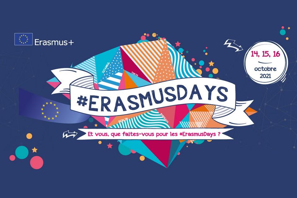 Les #ErasmusDays 2021 se tiendront les 14, 15 et 16 octobre prochains. - Crédits: Erasmus+