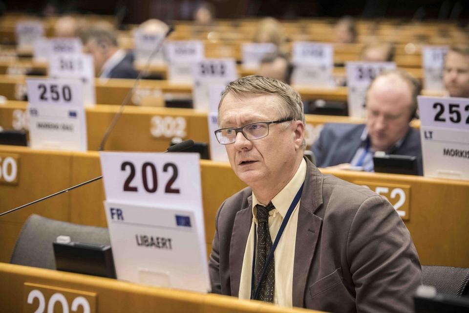 Thierry Libaert, professeur en sciences de l'information et porte-parole de la délégation française, est membre du Comité depuis 2010 – Crédits : Emilie Gomez / CESE