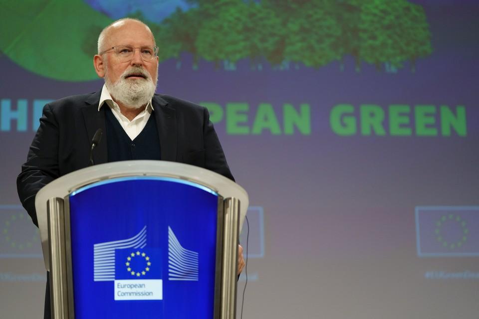 Lors de sa conférence de presse du 14 juillet, le Vice-président de la Commission européenne en charge du Pacte vert a assumé le risque social engendré par certaines mesures écologiques incluses dans le nouveau paquet législatif de l'exécutif - Crédits : Christophe Licoppe / Commission européenne