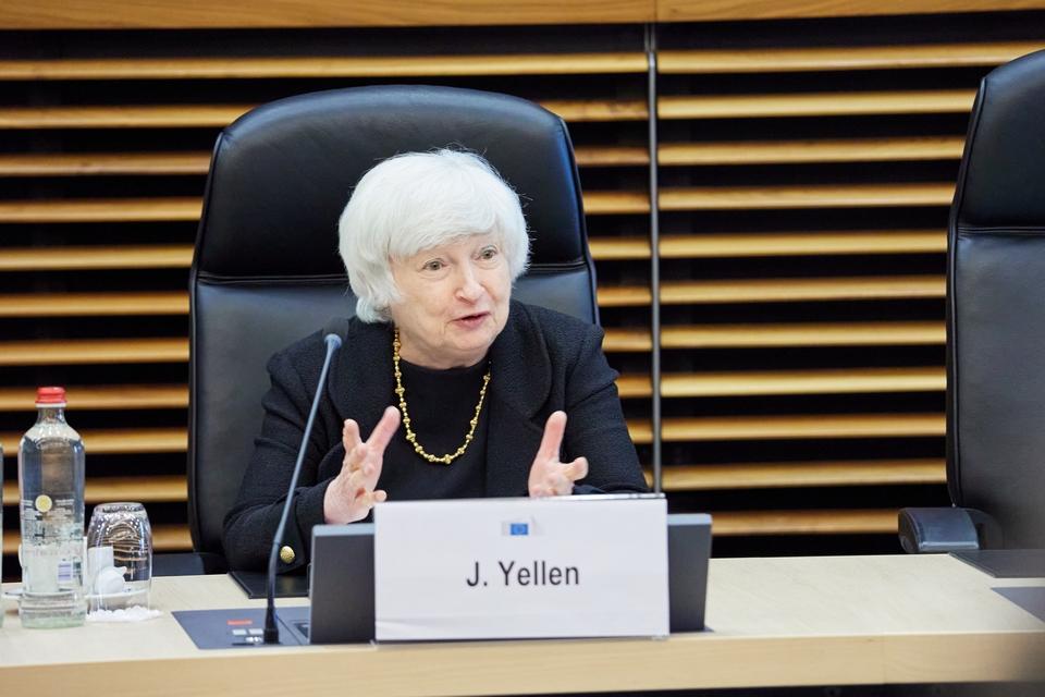 La secrétaire américaine au Trésor Janet Yellen est à Bruxelles lundi 12 juillet afin de discuter avec les dirigeants européens de la taxe numérique
