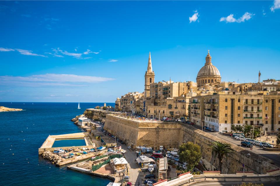 A partir du 14 juillet, seuls les Français vaccinés pourront se rendre à La Valette, sur l'île de Malte