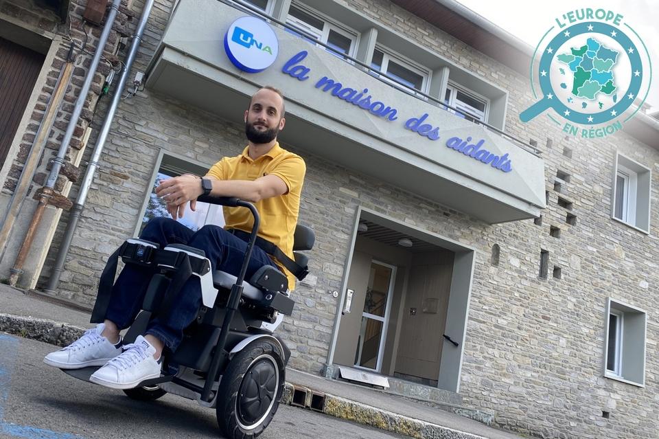 """Dans l'Orne, la """"Maison des aidants"""" va s'équiper d'un fauteuil Gyrolift, conçu par une start-up basé à Orléans, qui permet notamment de retrouver une position verticale"""