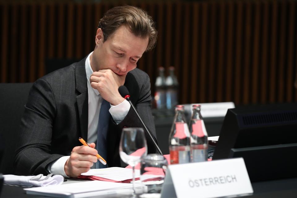Le ministre autrichien des Finances Gernot Blümel avait promis de fédérer une alliance des Etats membres attachés à des niveaux de dette et de déficit contenus