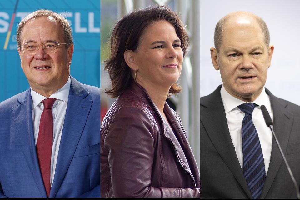 Armin Laschet (CDU), Annalena Baerbock (Verts) et Olaf Scholz (SPD) sont les candidats des principaux partis politiques allemands