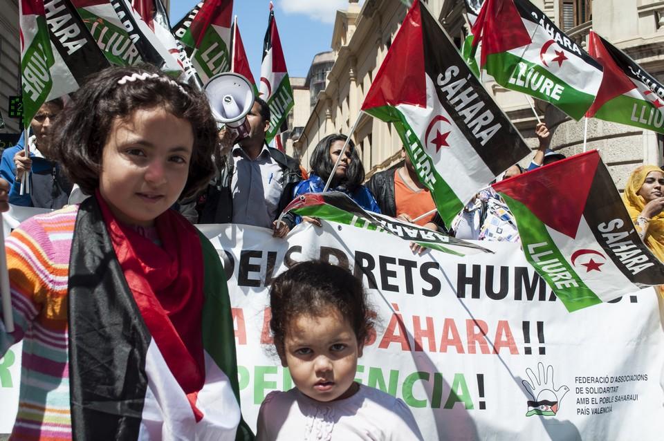 Ancienne colonie espagnole, le Sahara occidental est au coeur d'un contentieux entre le Maroc et le Front indépendantiste Polisario, qui ne manque pas d'afficher son soutien à sa cause, comme ici, à Valence en 2013 - Crédits : Lalocracio / iStock