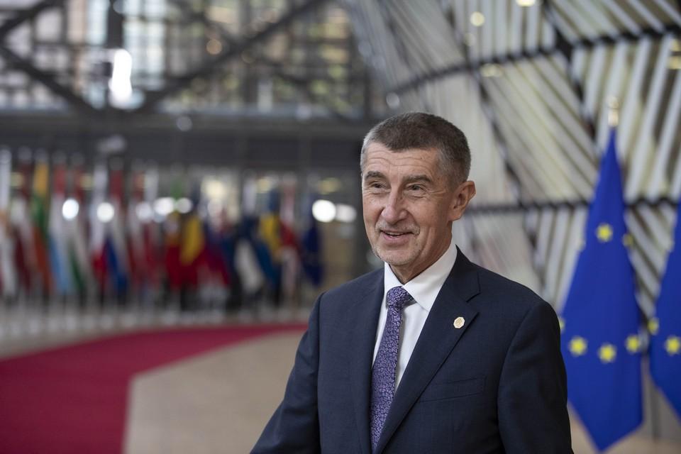 Le Premier ministre tchèque Andrej Babiš à l'occasion d'un conseil européen en décembre 2019